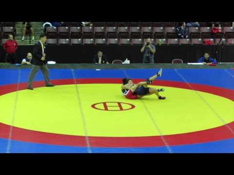 2014 Junior Pan-American Championships: 48 kg Jacqueline Mollocana (ECU) vs. Evelin Sosa (ARG)