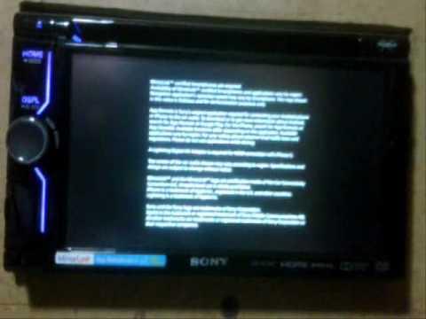 Sony XAV 612BT TV Mobil double Din Video mobil mirrorlink