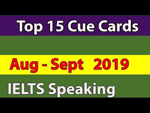 Top 15 Important Cue Cards for August-September 2019 |BC & IDP