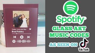 Spotify glass artwork with Cricut - Easy beginner tutorial Spotify code frame from TikTok trending screenshot 2