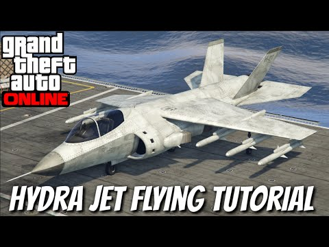How to Fly the Hydra Jet in GTA 5 Online - YouTube