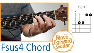 Guitar Chords for Beginners - Fsus4