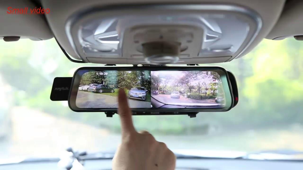Download Anytek T11+ 9.66 Inch Rearview Mirror DVR Camera 1080p+720p ADAS Dash Cam