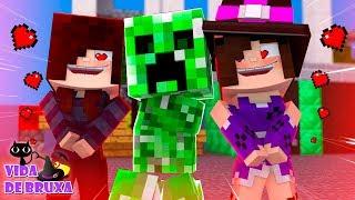 Minecraft: Vida de Bruxa #9 - COMO CONQUISTAR O CORAÇÃO DO CREEPER! ft. Cah