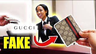 GIVING GUCCI EMPLOYEES FAKE GUCCI!!