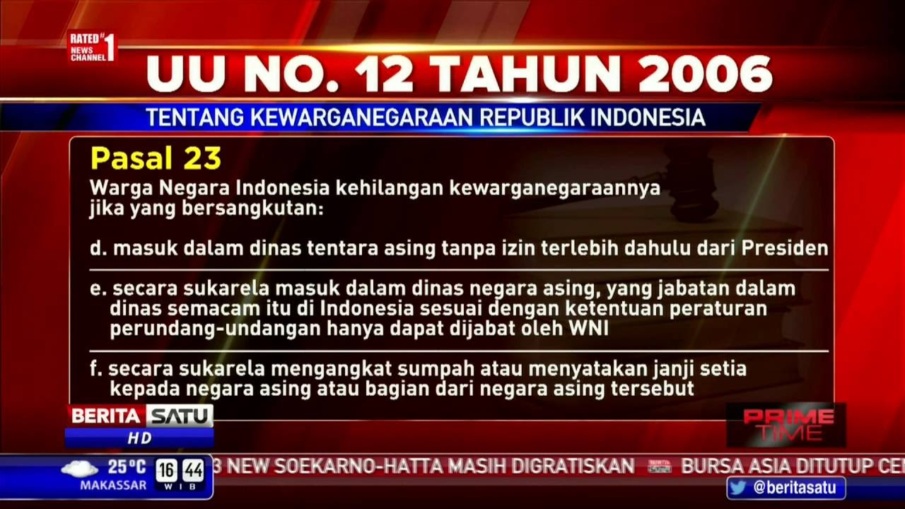 UU Nomor 12 Tahun 2006 Tentang Kewarganegaraan RI