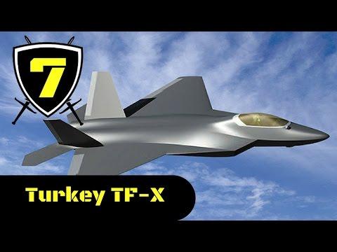 Turkey TF-X 5th Generation Stealth Fighter Combat Simulation