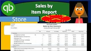 QuickBooks Pro 2019 Sales by Item Report - QuickBooks Desktop 2019