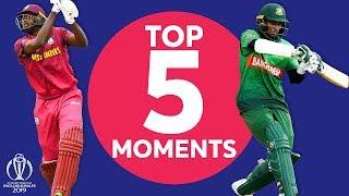 Holder? Shakib?   West Indies Vs Bangladesh   Top 5 Moments   Icc Cricket World Cup 2019