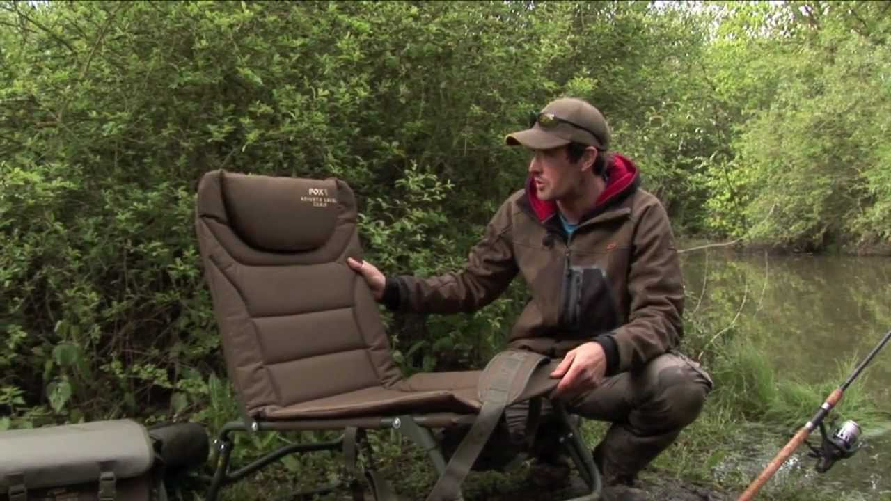 angling chair accessories desk chairs staples uk fox specialist fishing tv adjusta level youtube
