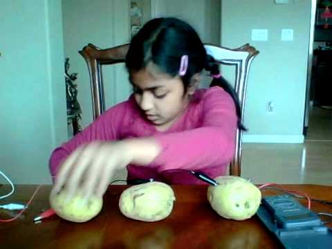 make a battery out of fruits and vegetables