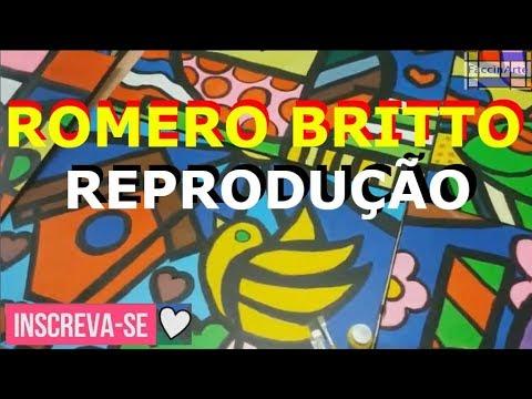 Romero Britto - Reprodução - Atividades de artes, Artes Visuais, Aula de artes