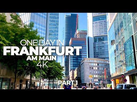 ONE DAY IN FRANKFURT AM MAIN (GERMANY) PART 1 | 4K UHD | Tim