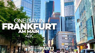 ONE DAY IN FRANKFURT AM MAIN (GERMANY) PART 1 | 4K UHD | Time-Lapse-Tour through an amazing city!