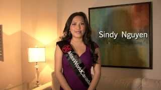 Sindy Nguyen - Miss World Canada 2014 Delegate