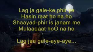 Lag Ja Gale Ke Phir Ye Hasi Raat - Woh kaun Thi - Full Karaoke
