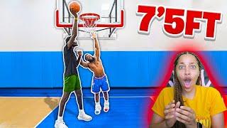 CashNasty: 1v1 Basketball Against 7'5 GIANT Hooper Hooper! Reaction
