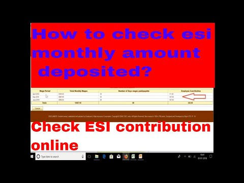 ESIC Monthly Contribution Check    How To Check Esi Contribution Online