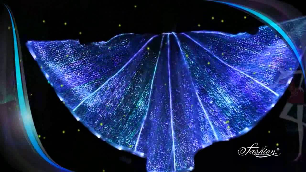 Belly Dance Wing Isis Wing Fiber Optical Wing Led