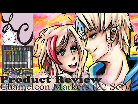 Art Supply/Product Review, Chameleon Color Tones - 22 pen Deluxe Set / Markers (+Speed Paint)