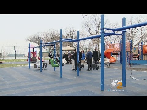 City Installing Playground Equipment For Kids With Disabilities