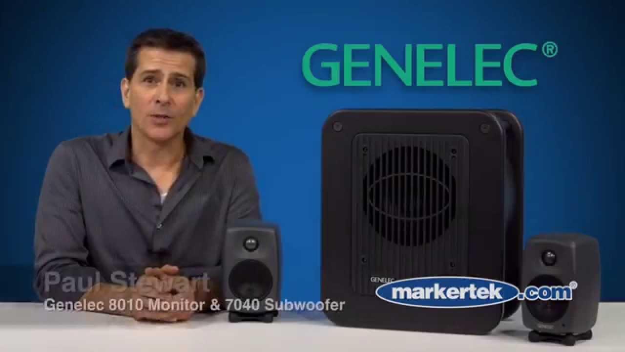 "Genelec 8010A 50-watt Powered Studio Monitor with 3/"" Woofer 3//4/"" Tweeter Speaker"