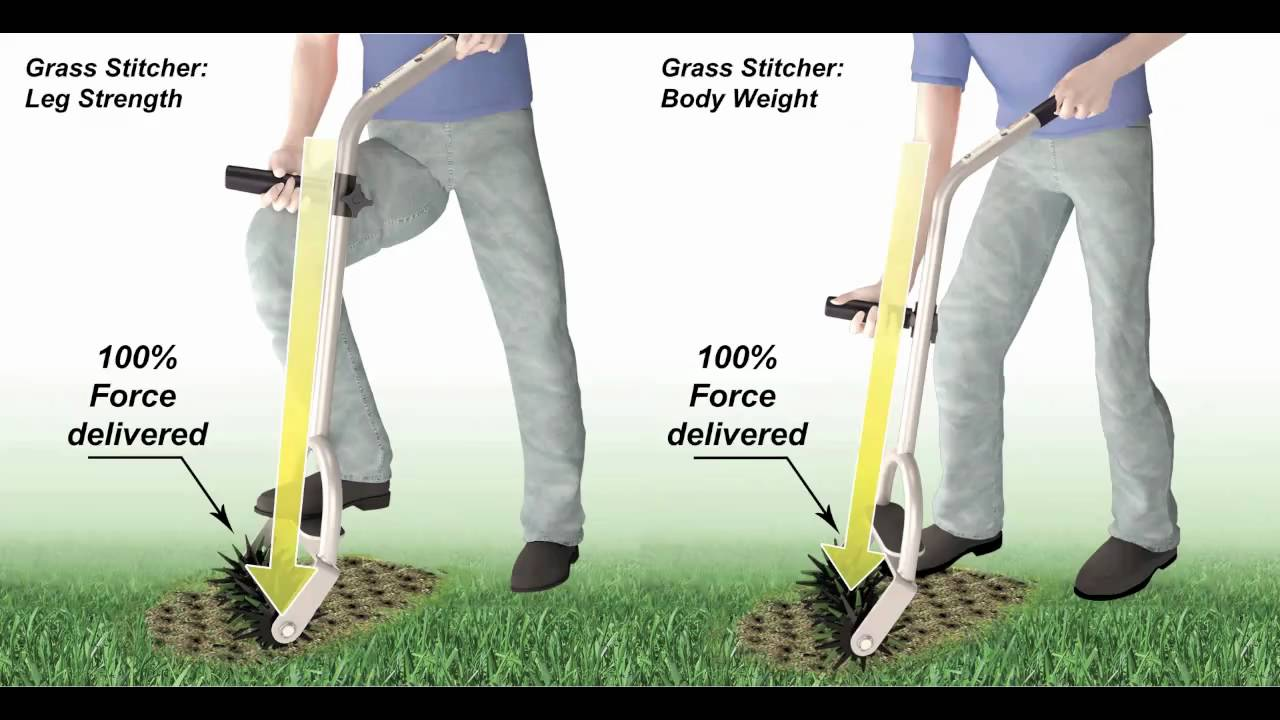 The Grass Stitcher is NOT a garden cultivator YouTube