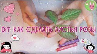 DIY: Как сделать листья розы | Роза из фоамирана |Фом-флористика | Цветоделие