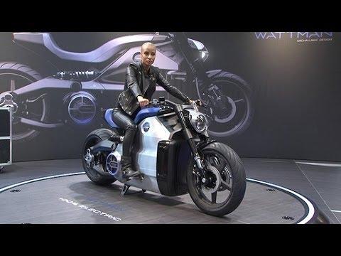 la moto lectrique la plus puissante d voil e au salon du. Black Bedroom Furniture Sets. Home Design Ideas