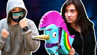 ESCAPED! HACKER GIRL Battle Royale in Real Life Video Game Challenge