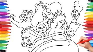WONDER PARK // WONDER PARK COLORING PAGES FOR KIDS // HOW TO DRAW WONDER PARK CHARACTERS