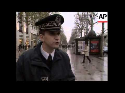 Extra police patrol streets of Paris to protect against terrorism