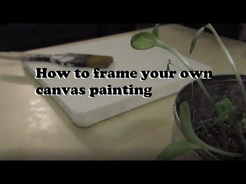 DIY : How to frame your own canvas painting (in 4 steps) !!!