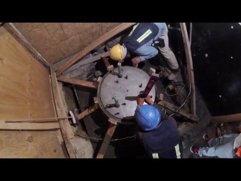 Vaciado de concreto estrucutral / Proyecto de Iluminación de la Catedral de la Ciudad de México