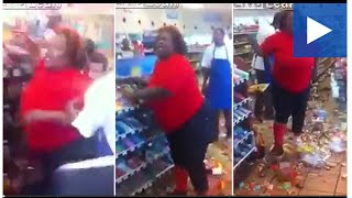 furious woman destroys store because they didn t accept her card