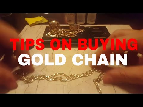 Tips on buying a gold chain