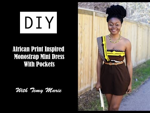 Fashion DIY African Print Inspired Monostrap Mini Dress With PocketsTutorial