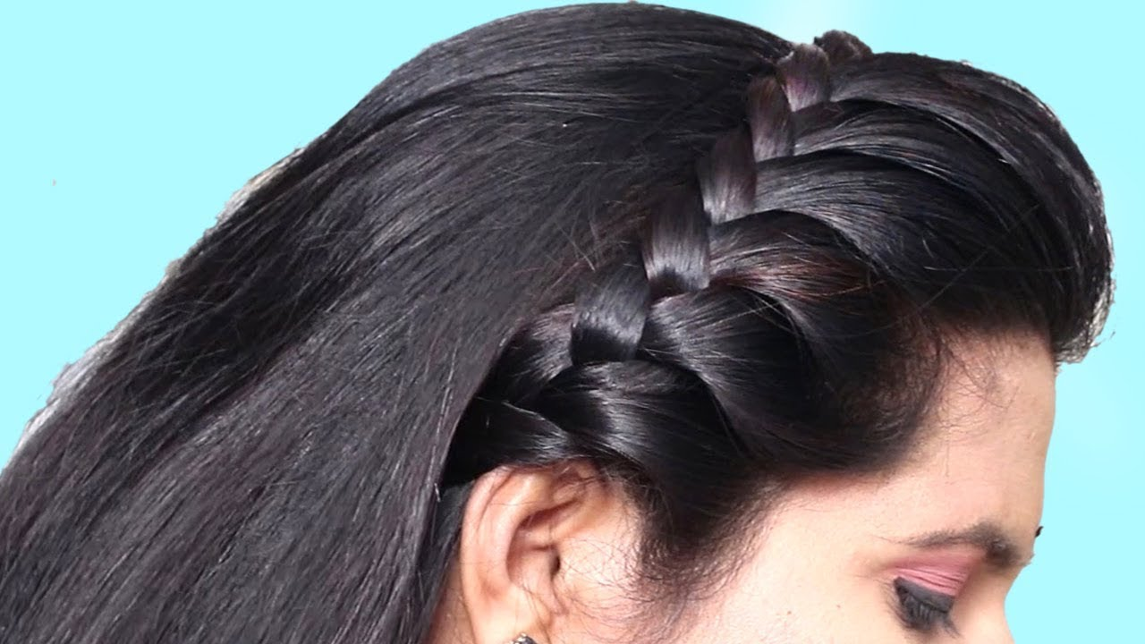 how to do side french braid hairstyle tutorial 2019 | easy hairstyle for long hair 2019
