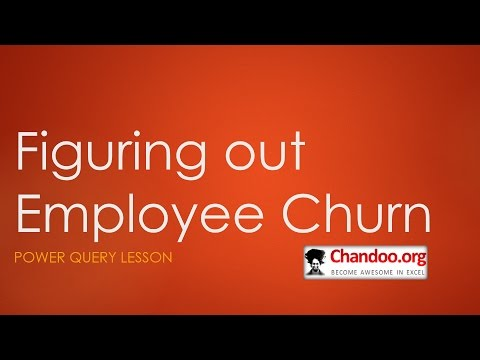 Figuring out Employee Churn with Power Query