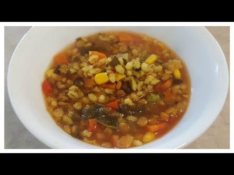 Vegetable Barley Soup / (Vegan Fat Free)
