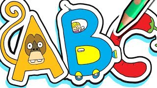 Learn the Alphabet in 1 Hour ✏️🐯 ABC Fun for Kids - Turn Letters into Drawings!