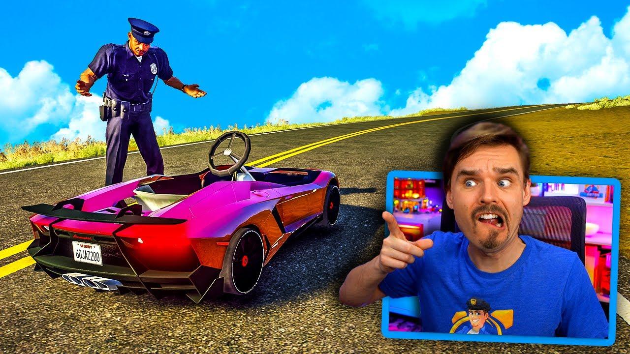 In GTA 5.. Cops find STOLEN Lamborghini EXCEPT it's a... (WHAAT?!)