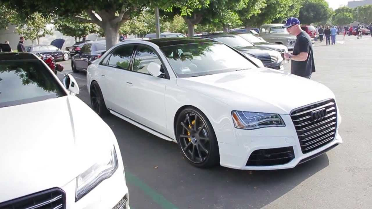 modified audi s8 walk around at cars coffee 2013 youtube. Black Bedroom Furniture Sets. Home Design Ideas