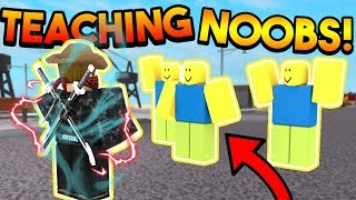 TEACHING NOOBS HOW TO PLAY SUPER POWER TRAINING SIMULATOR! (ROBLOX)