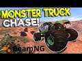 INSANE MONSTER TRUCK CHASE & CRASHES! - BeamNG Gameplay & Crashes - Cop Escape
