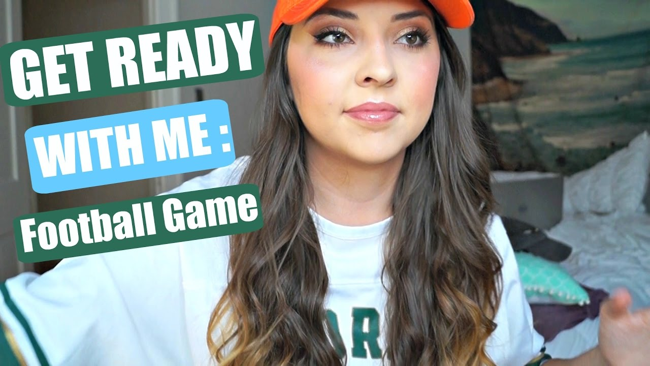 get ready with me: college football game