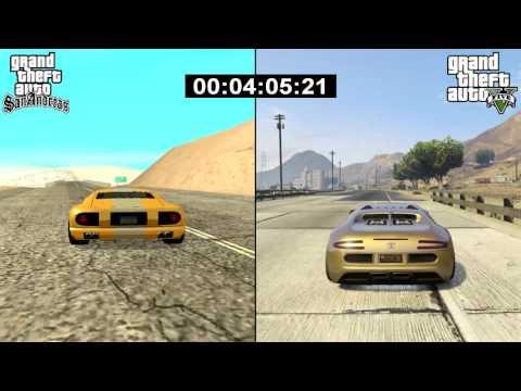 GTA SA vs. GTA V: Comparing Map Time/Course