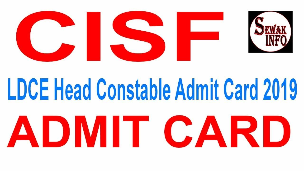 How to Download CISF admit card download, admit Card Kase Download kare