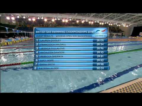 British Gas Swimming Championships 2014 - Finals Day Five