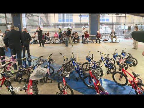 Dozens of kids sport new bikes thanks to Hispanic Contractor's Association